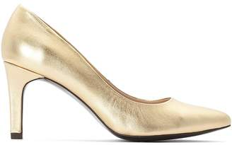 La Redoute Collections Metallic Leather High Heels with Pointed Toe