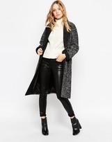 Asos Oversized Coat in Tweed with Contrast Collar