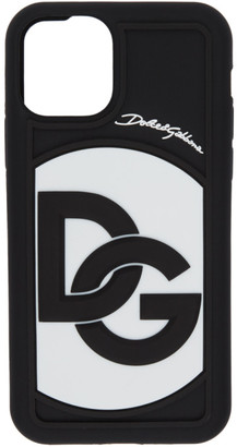 Dolce & Gabbana Black and White Crossover Logo iPhone 11 Pro Case