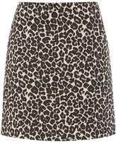 Warehouse Animal Jacquard Skirt