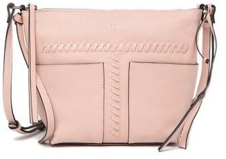 T Tahari Skyler Leather Top Zip Crossbody Bag