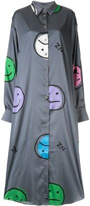 Natasha Zinko Emoji print shirt dress