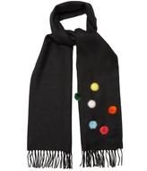 Fendi Fur pompom-embellished wool scarf