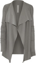 Rick Owens Draped Cotton Cardigan - Light gray