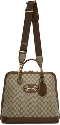 Gucci Beige 1955 Horsebit Top Handle Tote
