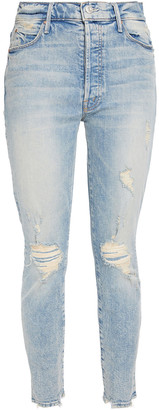 Mother The Super Stunner Distressed High-rise Skinny Jeans