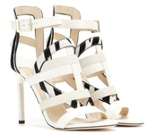 Jimmy Choo Vanquish Snakeskin And Leather Sandals