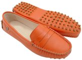Minitoo Womens Casual Comfortable Pink Suede Leather Driving Moccasins Loafers Boat Shoes Flats