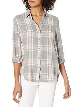 Lucky Brand Women's Long Sleeve Button Up Classic Plaid Shirt
