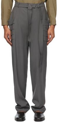Vejas Grey Gill Pocket Trousers