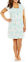 Miss Elaine Plus Floral Nightgown