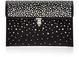 Alexander McQueen Embellished Leather Envelope Clutch