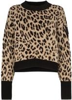 Moncler leopard print jumper