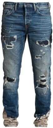 PRPS Le Sabre Distressed Patch Straight Jeans