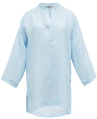 Three Graces London Belinda Crepe Tunic Top - Light Blue