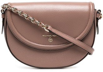 Michael Kors Collection Curved Leather Crossbody Bag