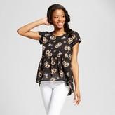 Xhilaration Women's Peplum Tie-Back T-Shirt Juniors')