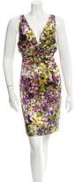 Roberto Cavalli Silk Floral Print Dress