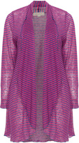 Isolde Roth Plus Size Open striped linen cardigan