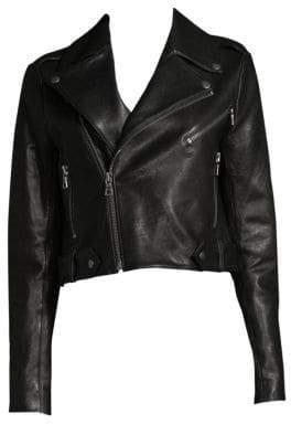 Alice + Olivia Cody Leather Crop Jacket