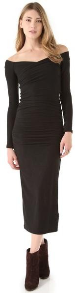 James Perse Wrap Shoulder Dress