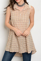 Soieblu Plaid Tunic Top