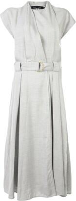 Proenza Schouler Belted Wrap-Effect Midi Dress