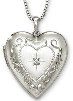 JCPenney FINE JEWELRY Photo Heart Locket Sterling Silver