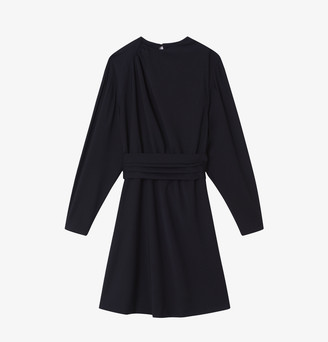 soeur Luna Wool Dress Navy - Wool and Polyester | navy | 36 - Navy