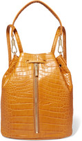 Elizabeth and James Cynnie Sling convertible croc-effect leather backpack