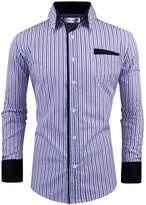 Tom's Ware Mens Classic Slim Fit Vertical Striped Longsleeve Dress Shirt TWCS16-XL/XXL