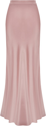 Safiyaa Cadence Silk-Satin Skirt