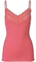 Rosemunde Desert Rose Strap Silk Blend Top - M - Pink