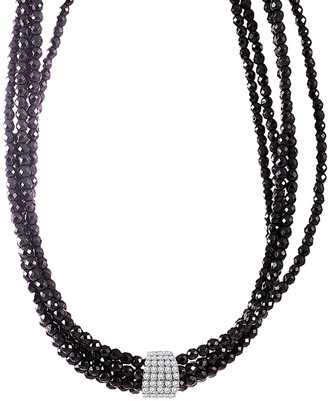 Meira T 14K 0.32 Ct. Tw. Diamond & Hematite Choker Necklace