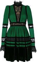 Elie Saab lace panelled dress - women - Silk/Cotton/Polyamide/Polyimide - 38
