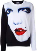 Jeremy Scott face print sweatshirt - women - Cotton - 38
