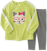 Kids Headquarters Baby Girls' 2-Pc. Cat Tunic & Leggings Set