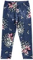 MonnaLisa Floral Printed Velvet Leggings