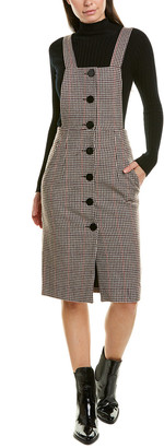 BA&SH Penelope Wool-Blend Sheath Dress