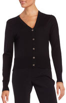DKNY Long Sleeve Merino Wool Cardigan