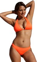 UjENA Neon Orange Halter Thong Bikini