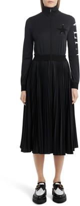 Valentino Sequin Star Logo Long Sleeve Track Dress