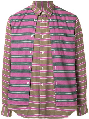 Comme des Garçons Homme Plus Multi-Panel Horizontal-Stripe Shirt