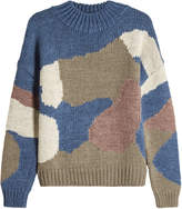 MiH Jeans M i H Camo Turtleneck Pullover with Wool and Alpaca