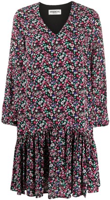Essentiel Antwerp Floral Ruffled Hem Dress