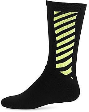 Off-White Men's Fluorescent Stripe Socks