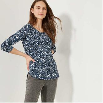 Joe Fresh Women's Print Pocket Tee, Blue (Size XS)
