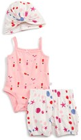 Infant Girl's Rosie Pope Swimmer Bodysuit, Bubble Shorts & Turban