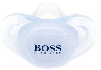 Boss Kids Logo Print Pacifier