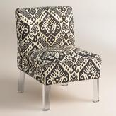Randen Upholstered Chair in Charcoal Prints - Acrylic Legs